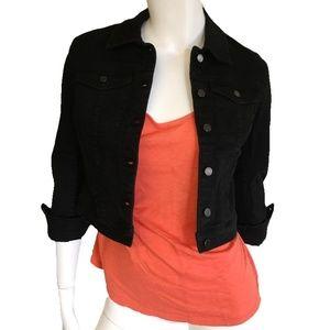 NWT Black Jeans Denim Cropped Jacket NYC